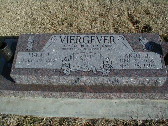 Andy J. Viergever 1906-1996 & Lula Lydia Simmons 1912-2001